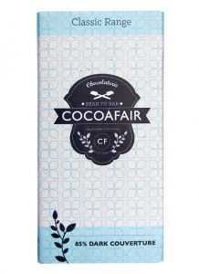 CocoaFair 85% Dark Chocolate 100g Faithful to nature