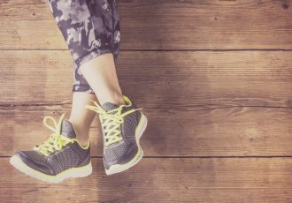woman with sneaker supershazzer blog image